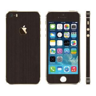 メタル調 プレミアムスキンシール ブラッシュドダークチタン iPhone SE/5sスキンシール