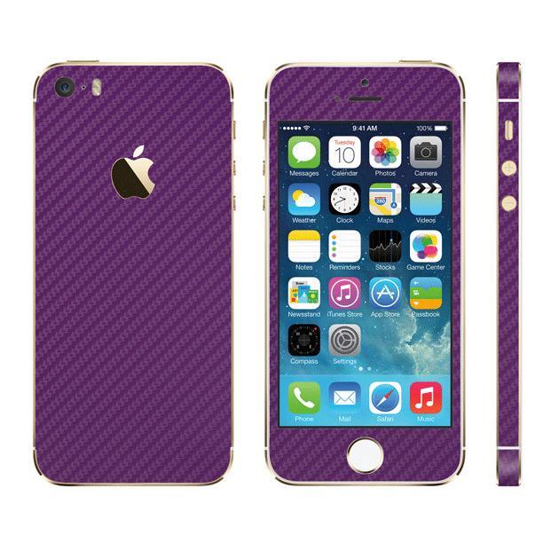 iPhone SE/5s/5 ケース カーボン調 プレミアムスキンシール カーボンパープル iPhone SE/5sスキンシール_0