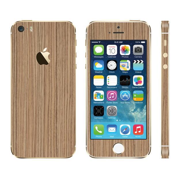 iPhone SE/5s/5 ケース ウッド調 プレミアムスキンシール ゼブラ iPhone SE/5sスキンシール_0