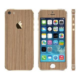 ウッド調 プレミアムスキンシール ゼブラ iPhone 5sスキンシール