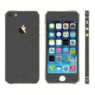 カーボン調 プレミアムスキンシール カーボンガンメタル iPhone SE/5sスキンシール