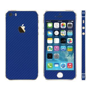 カーボン調 プレミアムスキンシール カーボンブルー iPhone SE/5sスキンシール