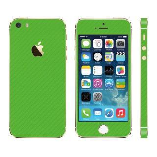 カーボン調 プレミアムスキンシール カーボングリーン iPhone SE/5sスキンシール