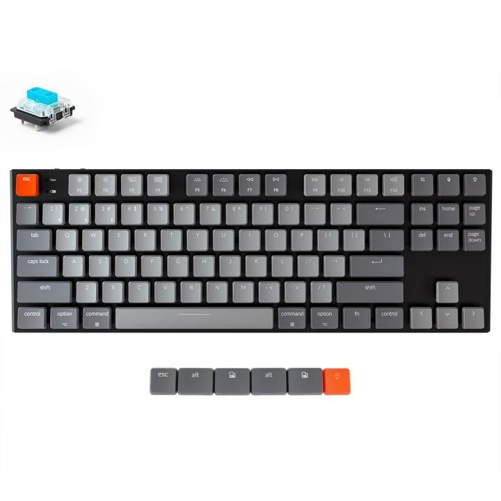 Keychron K1 ワイヤレス・メカニカルキーボード White LED US テンキーレス Gateron青軸【7月上旬】_0