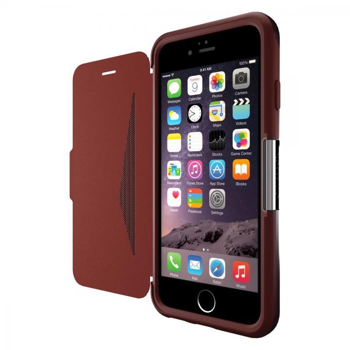 本革製 耐衝撃手帳型ケース OtterBox Strada ボルドー iPhone 6