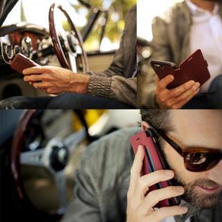 【iPhone6ケース】本革製 耐衝撃手帳型ケース OtterBox Strada ボルドー iPhone 6_6