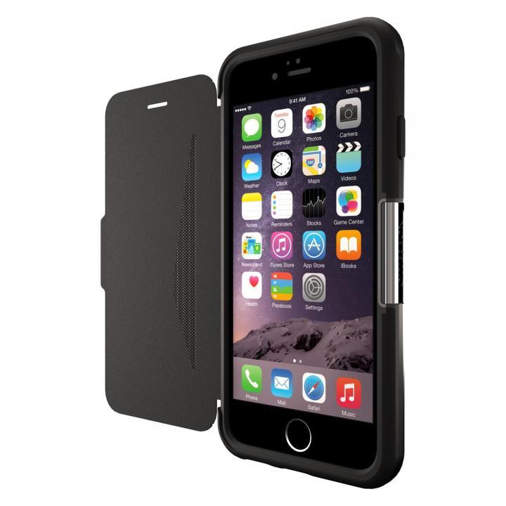 【iPhone6ケース】本革製 耐衝撃手帳型ケース OtterBox Strada ブラック iPhone 6_0