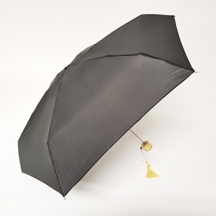 こんな小ささ見たことない!!雨晴兼用世界最小5段マイクロ無地ミニ日本製 ブラック_0