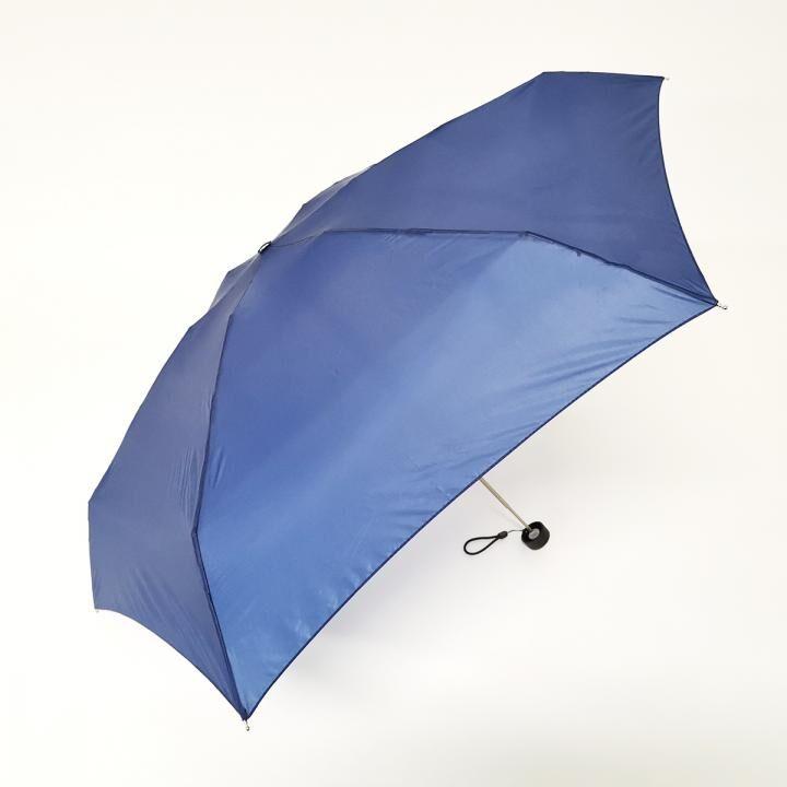 こんな小ささ見たことない!!雨晴兼用世界最小5段マイクロ無地ミニ ネイビー_0