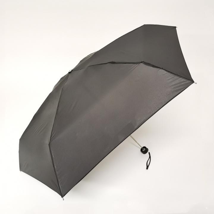 こんな小ささ見たことない!!雨晴兼用世界最小5段マイクロ無地ミニ ブラック_0
