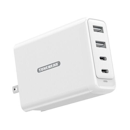 TUNEMAX 100W Gan Wall Charger 最大100W USB-C / USB-A 充電器 White_0