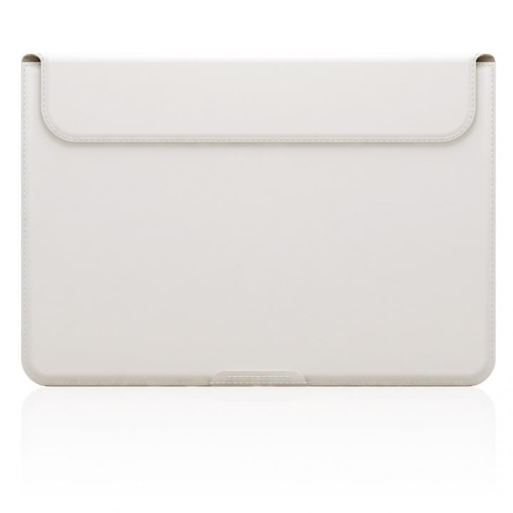 MacBook 12インチ対応 スタンドケース D5 Artificial Leather ホワイト_0