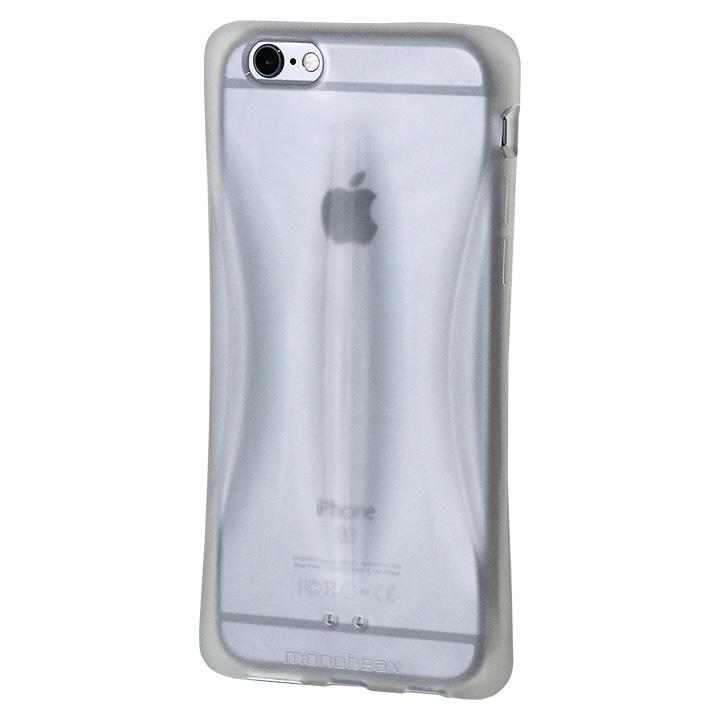 【iPhone6s/6ケース】monobeax 滑らないエラストマーケース スモーク_0