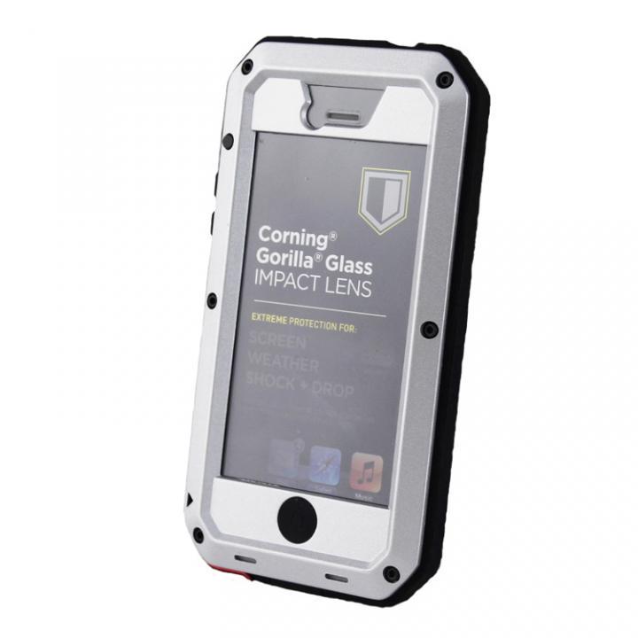 超強度メタルケース Tyrannosaurs.Rex Extreme シルバー iPhone SE/5s/5ケース