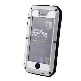 【iPhone SE/5s/5ケース】超強度メタルケース Tyrannosaurs.Rex Extreme シルバー iPhone SE/5s/5ケース