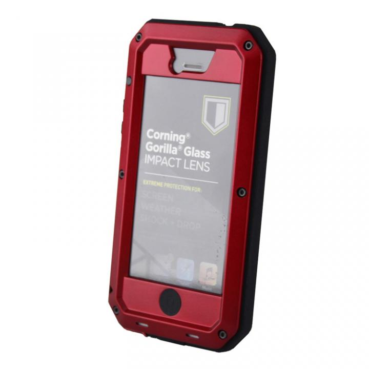 iPhone SE/5s/5 ケース 超強度メタルケース Tyrannosaurs.Rex Extreme レッド iPhone SE/5s/5ケース_0