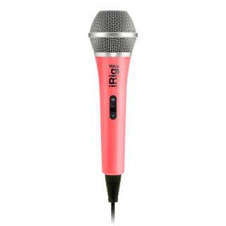 iPhoneでカラオケが楽しめる ハンドヘルド型ボーカル・マイク iRig Voice ピンク