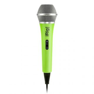 iPhoneでカラオケが楽しめる ハンドヘルド型ボーカル・マイク iRig Voice グリーン