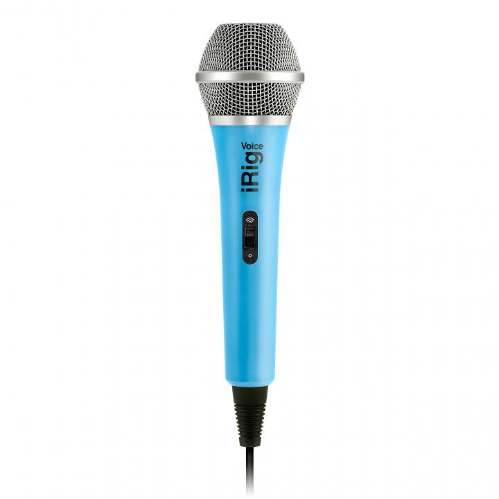 iPhoneでカラオケが楽しめる ハンドヘルド型ボーカル・マイク iRig Voice ブルー