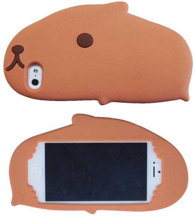 カピバラさん ダイカットシリコンジャケット iPhone SE/5s/5