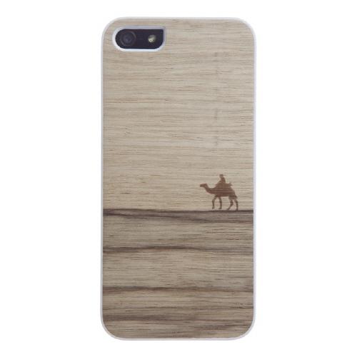 ウッドケース ジェニュイン ニューテラ ホワイトフレーム iPhone SE/5s/5ケース