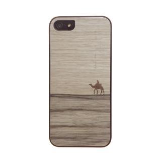 ウッドケース ジェニュイン ニューテラ ブラックフレーム iPhone SE/5s/5ケース