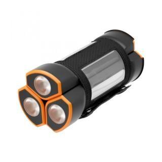 アウトドアや災害時に最適LEDハンディライト付きモバイルバッテリー