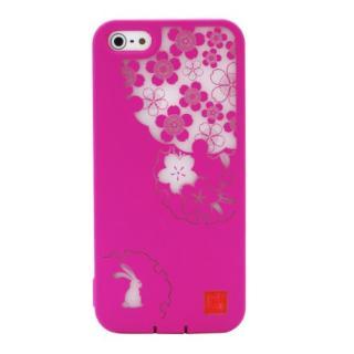 デジタルを彩る和の美 和彩美「ふるる」 透し桜に雪輪兎 iPhone5ケース