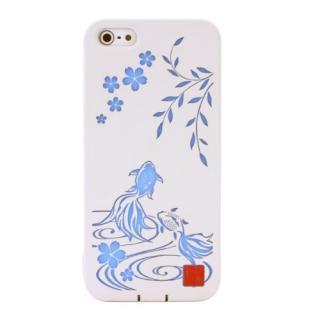 デジタルを彩る和の美 和彩美「ふるる」 透し散桜に金魚 iPhone5ケース