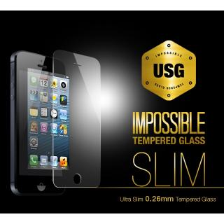 iPhone SE/5s/5 フィルム USG ITG Slim - Impossible Tempered Glass  iPhone 5