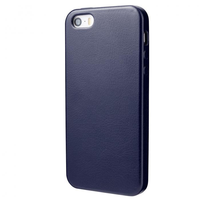 iPhone SE/5s/5 ケース 極薄 1.6mmPUレザーケース ネイビー iPhone SE/5s/5ケース_0