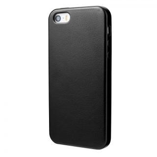 極薄かつ軽量 1.6mmPUレザーケース ブラック iPhone SE/5s/5ケース