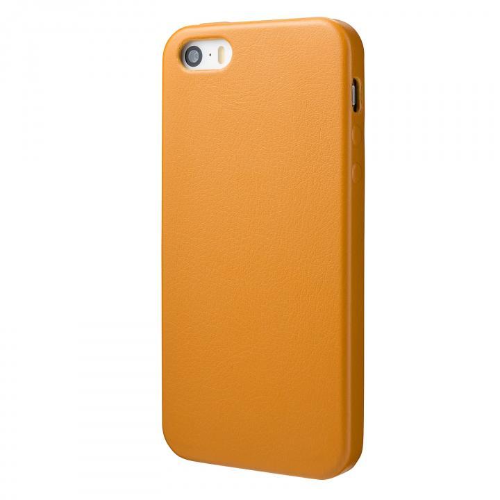 極薄 1.6mmPUレザーケース イエロー iPhone SE/5s/5ケース