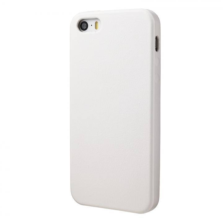 極薄 1.6mmPUレザーケース ホワイト iPhone SE/5s/5ケース