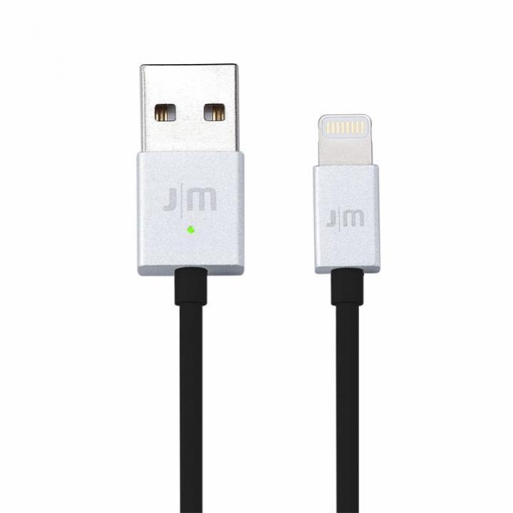 [1m]充電LEDランプ付き Lightningケーブル JustMobile AluCable LED シルバー_0