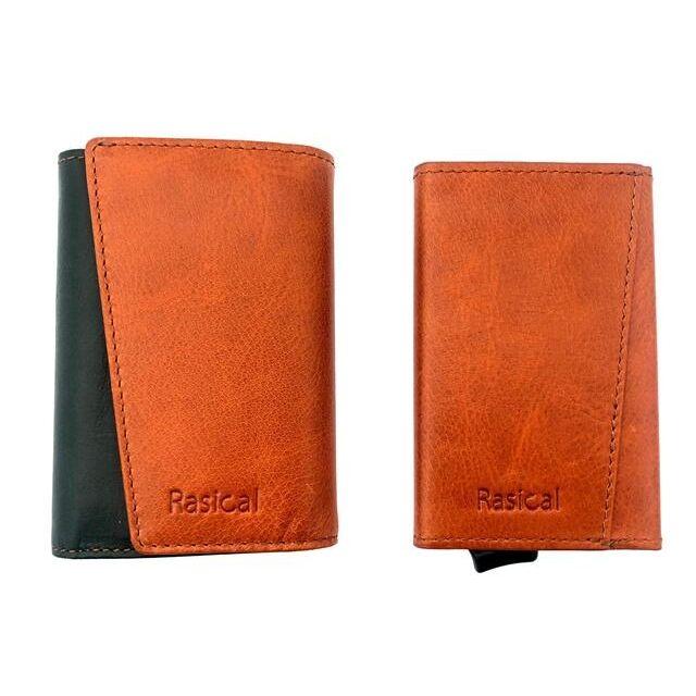 新感覚の減らす財布「ピタマグウォレット」 カバーセット ブラウン×グリーン_0