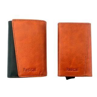 新感覚の減らす財布「ピタマグウォレット」 カバーセット ブラウン×グリーン