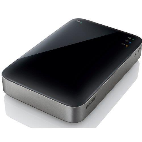 バッファロー HDW-P500U3 ミニステーション Wi-Fi&USB3.0用 ポータブルHDD 500GB_0
