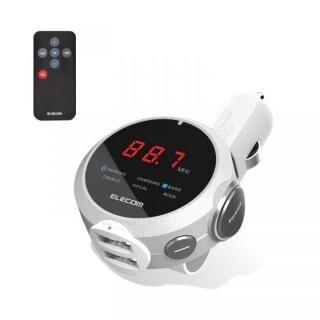 Bluetooth FMトランスミッター(イコライザー/リモコン) シルバー