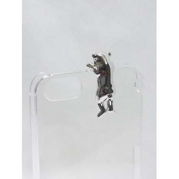 【iPhone SE/5s/5】iPhone SE/5s/5 ケース with アニマル クマ シルバー_0