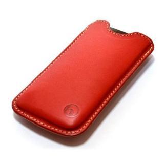 【iPhone SE/5s/5ケース】日本の職人が一つずつ制作 ハンドメイドレザーケース レッド iPhone SE/5s/5ケース