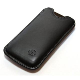 日本の職人が一つずつ制作 ハンドメイドレザーケース ブラック iPhone SE/5s/5ケース