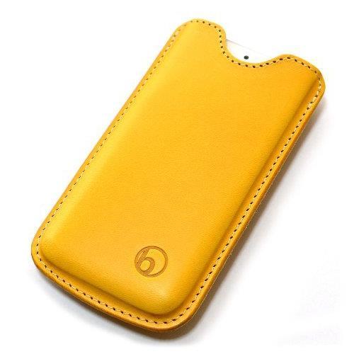 日本の職人が一つずつ制作 ハンドメイドレザーケース キャメル iPhone SE/5s/5ケース