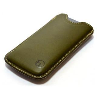 日本の職人が一つずつ制作 ハンドメイドレザーケース グリーン iPhone SE/5s/5ケース