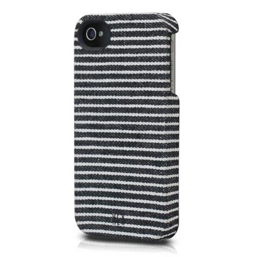 iPhone 4s/4用 HEX CORE Canvas (ブラック/グレイ・ストライプ)_0