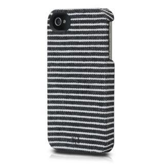iPhone 4s/4用 HEX CORE Canvas (ブラック/グレイ・ストライプ)