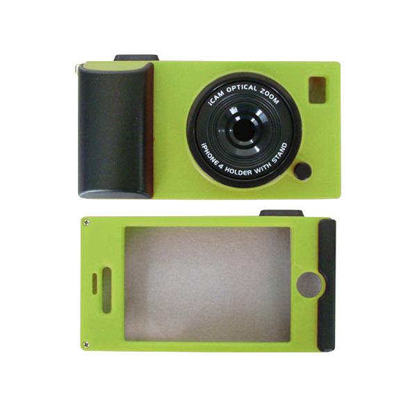 i camera case アイカメラケース iPhone4専用ケース グリーン