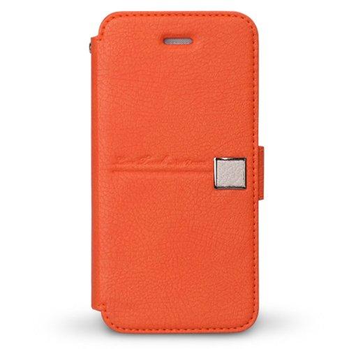 iPhone SE/5s/5 ケース iPhone5 手帳型ケース Masstige Color Point Diary  Orange_0