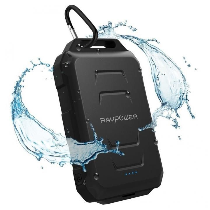 RAVPOWER 防水防塵タフモバイルバッテリー 大容量 [10050mAh] RP-PB044 ブラック_0
