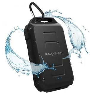 RAVPOWER 防水防塵タフモバイルバッテリー 大容量 [10050mAh] RP-PB044 ブラック【7月下旬】